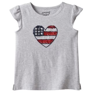 Toddler Girl Jumping Beans® American Flag Heart Graphic Tee