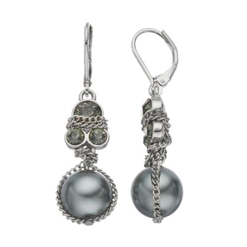 Simply Vera Vera Wang Chain Wrapped Drop Earrings