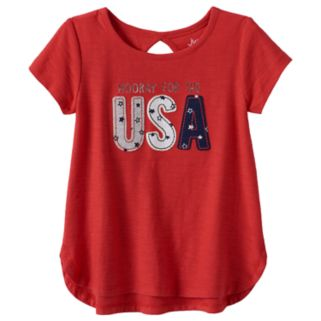"Toddler Girl Jumping Beans® ""Hooray for the USA"" Graphic Tee"
