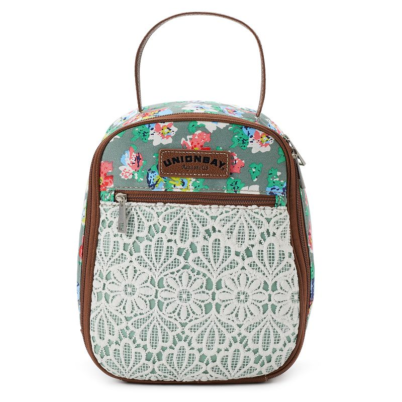 Unionbay Flower Lace Lunch Tote, Lt Green