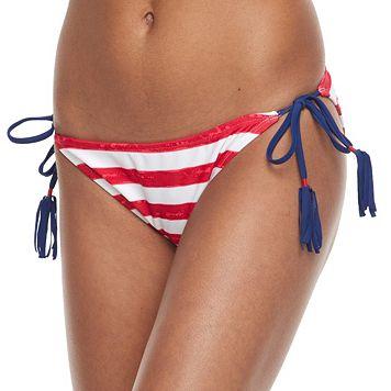 Mix and Match Striped Tassel Scoop Bikini Bottoms