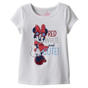 "Disney's Minnie Mouse Toddler Girl ""Red White and Cute!"" Graphic Tee by Jumping Beans®"