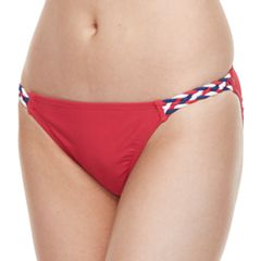 Mix-and-Match Braided Scoop Bikini Bottoms