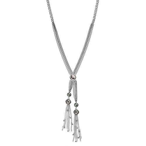Simply Vera Vera Wang Long Fringe Y Necklace