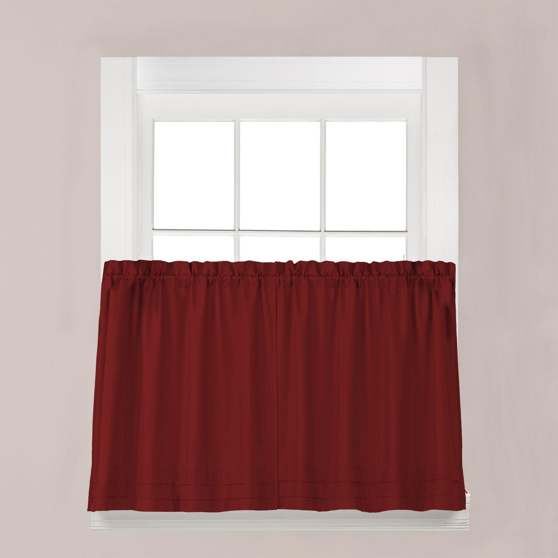 Red Kitchen Curtains Drapes Window Treatments Home Decor Kohls