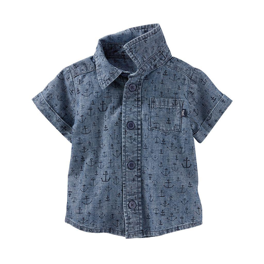 Baby Boy OshKosh B'gosh® Anchor Chambray Shirt