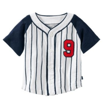 Baby Boy Carter's Striped Baseball Shirt