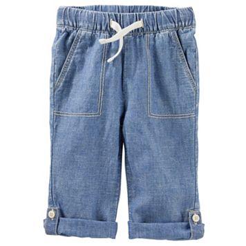 Baby Boy Carter's Linen-Blend Convertible Pants