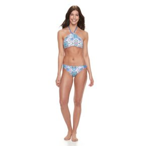 Juniors' Malibu High-Neck Halter Bikini Top