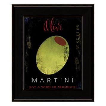 Olive Martini I Framed Wall Art