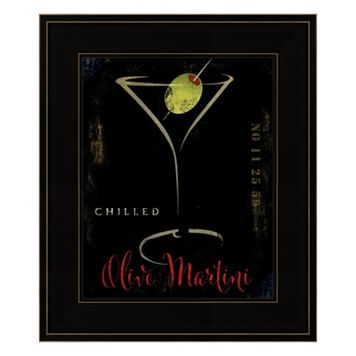 Olive Martini II Framed Wall Art