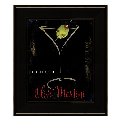 Olive Martini II Framed Wall Art