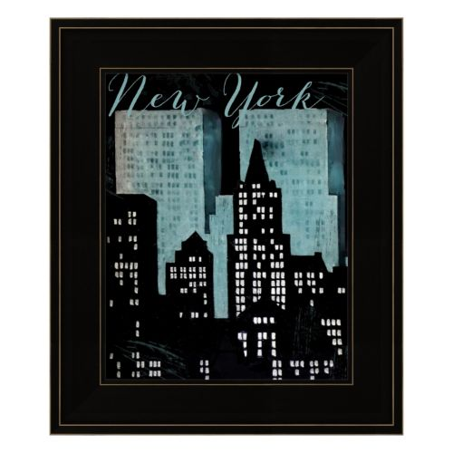 "Retro Cities I ""New York"" Framed Wall Art"