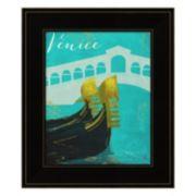 "Retro Cities II ""Venice"" Framed Wall Art"