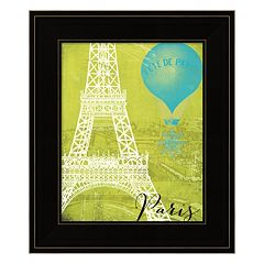 Retro Cities III 'Paris' Framed Wall Art