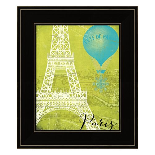 "Retro Cities III ""Paris"" Framed Wall Art"