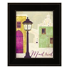Retro Cities IV 'Madrid' Framed Wall Art