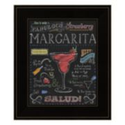 """Strawberry Margarita"" Framed Wall Art"