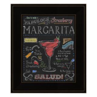"""Strawberry Margarita"" Framed Wall Art"