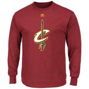 Men's Majestic Cleveland Cavaliers Logo II Long-Sleeve Tee