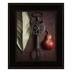 Leaf With Pear 1 Framed Wall Art