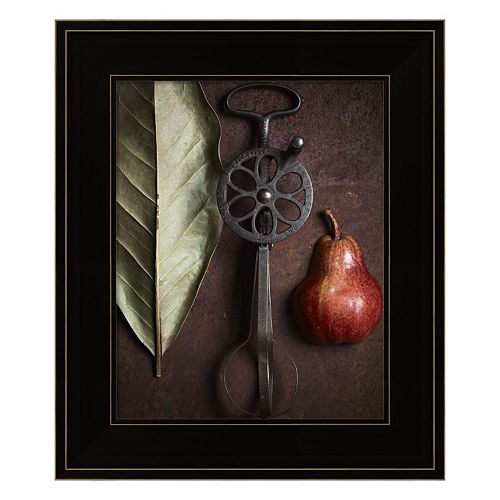 Leaf With Pear 1 Framed Wall Art