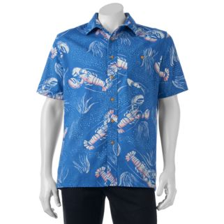 Men's Croft & Barrow® Classic-Fit Tropical Button-Down Shirt