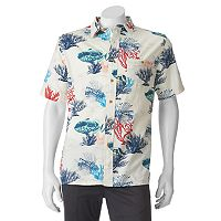 Men's Croft & Barrow® Classic-Fit Tropical Button-Down Shirt