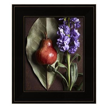Leaf With Pear 2 Framed Wall Art