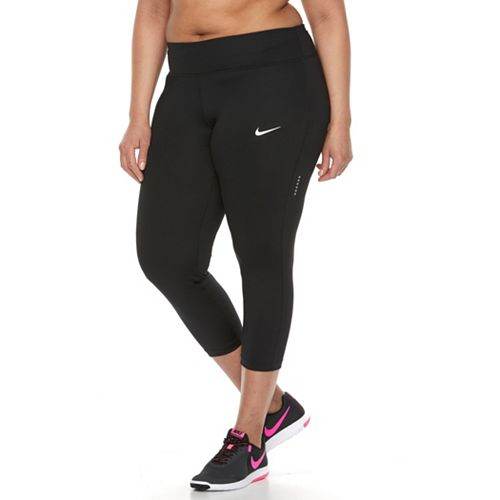 Plus Size Nike Dri-FIT Essential Crop Capri Leggings