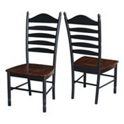 International Concepts Tall Ladderback Dining Chair 2 pc Set