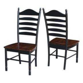International Concepts Tall Ladderback Dining Chair 2-piece Set