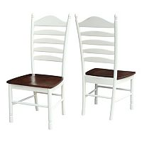 International Concepts Tall Ladderback Dining Chair 2-piece Set