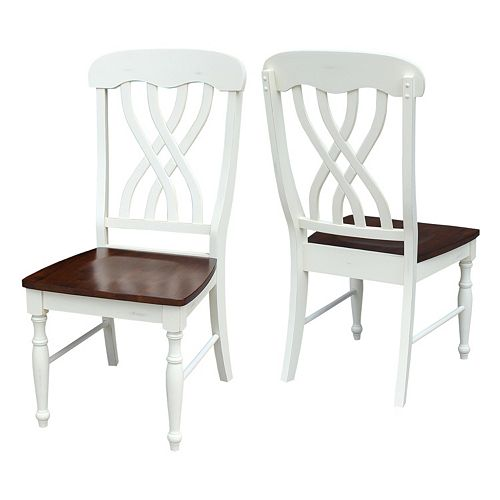 International Concepts Lattice Back Dining Chair 2-piece Set