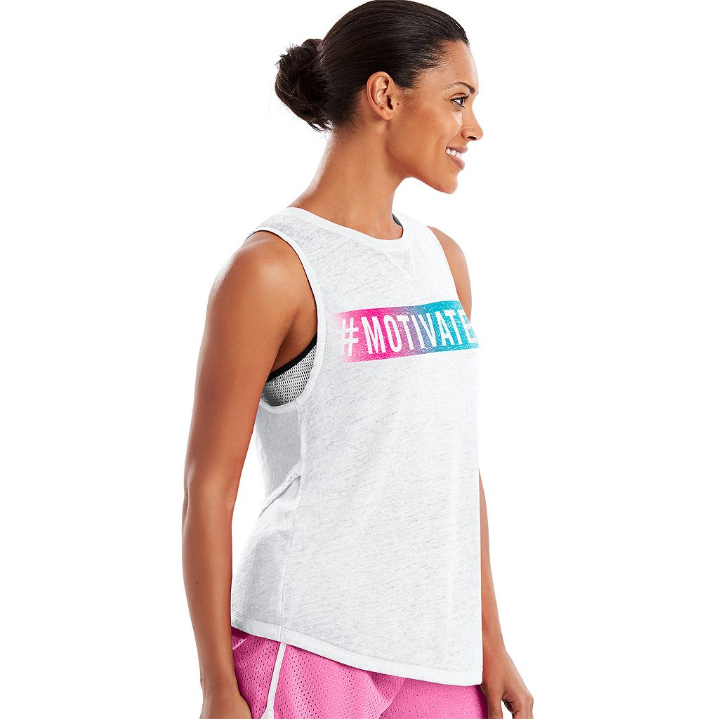 Women's Champion Authentic Wash Muscle Graphic Tee