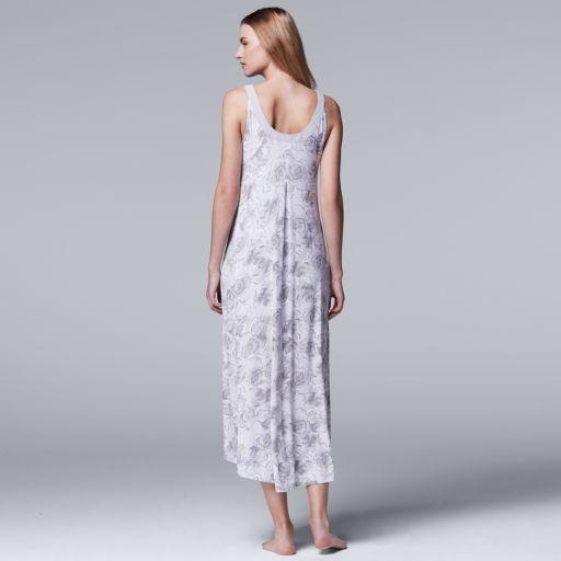 Women's Simply Vera Vera Wang Pajamas: Late Bloomers Maxi Nightgown