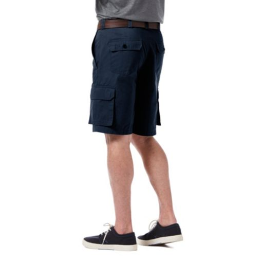 Men's Haggar Micro Sand Classic-Fit Expandable Waistband Canvas Cargo Shorts