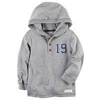 Boys 4-8 Carter's Number Applique Hooded Henley
