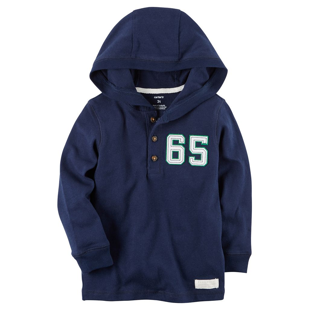 Baby Boy Carter's Number Applique Hooded Henley
