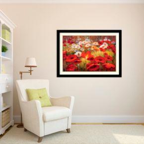 Amanti Art Meadow Poppies II Framed Wall Art