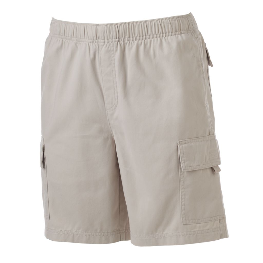 Big & Tall Croft & Barrow® Classic-Fit Canvas Twill Elastic Cargo Shorts