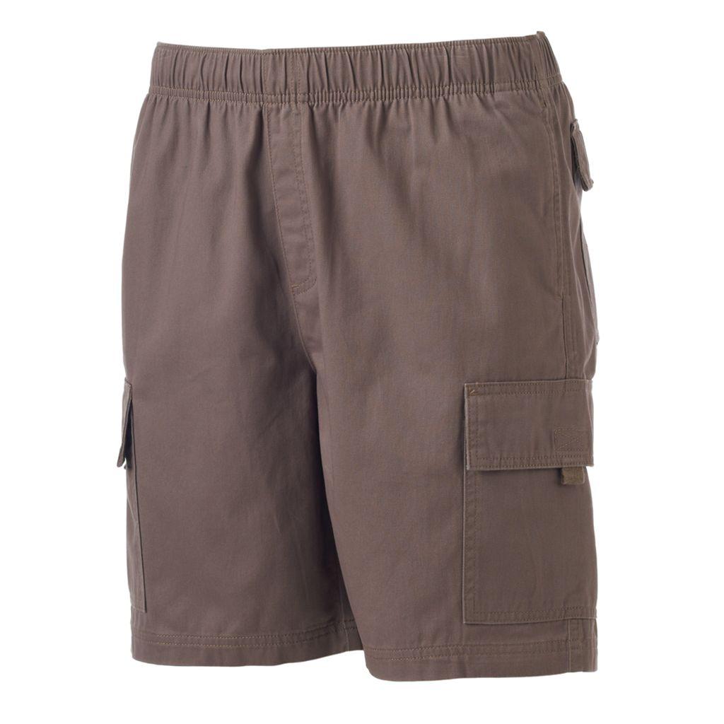 Big & Tall Croft & Barrow® Classic-Fit Canvas Twill Elastic Cargo Shorts
