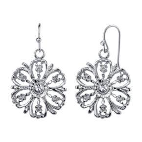 1928 Openwork Flower Drop Earrings