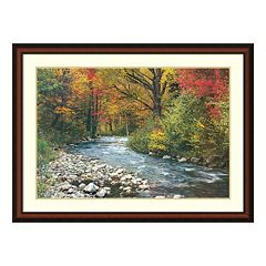 Amanti Art Forest Creek Framed Wall Art
