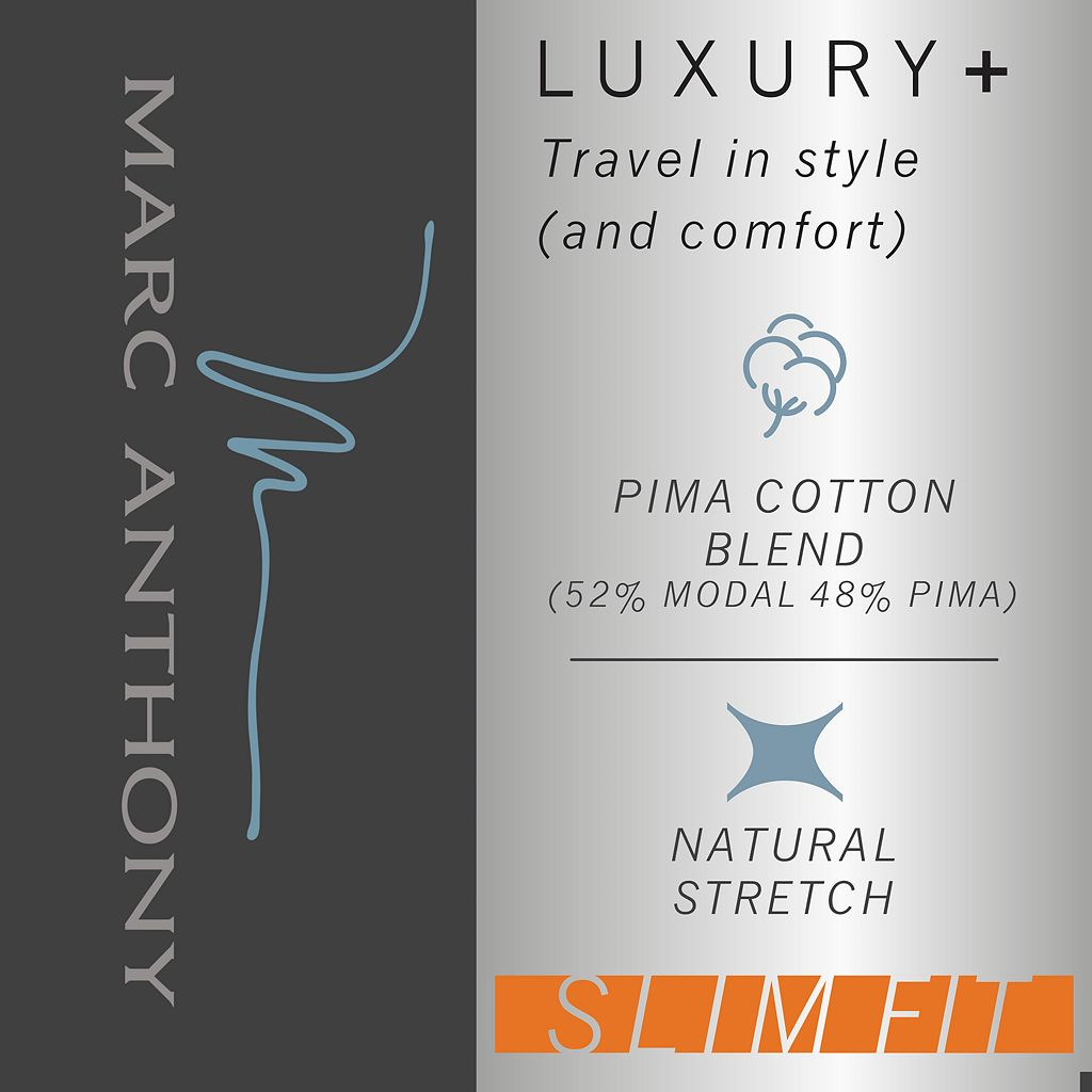 Men's Marc Anthony Slim-Fit Luxury+ Textured Pique Tee