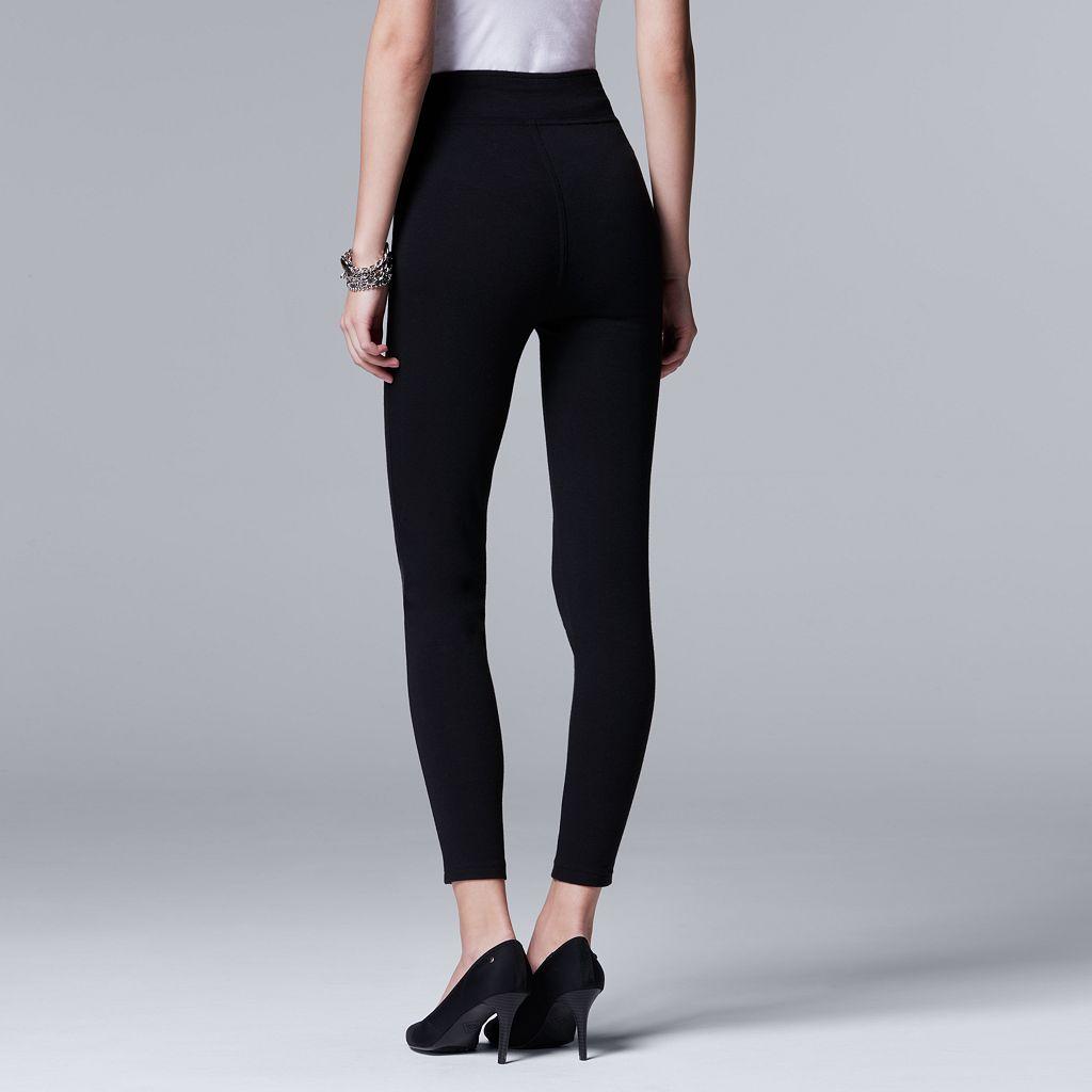 Simply Vera Vera Wang Faux Leather Panel Leggings