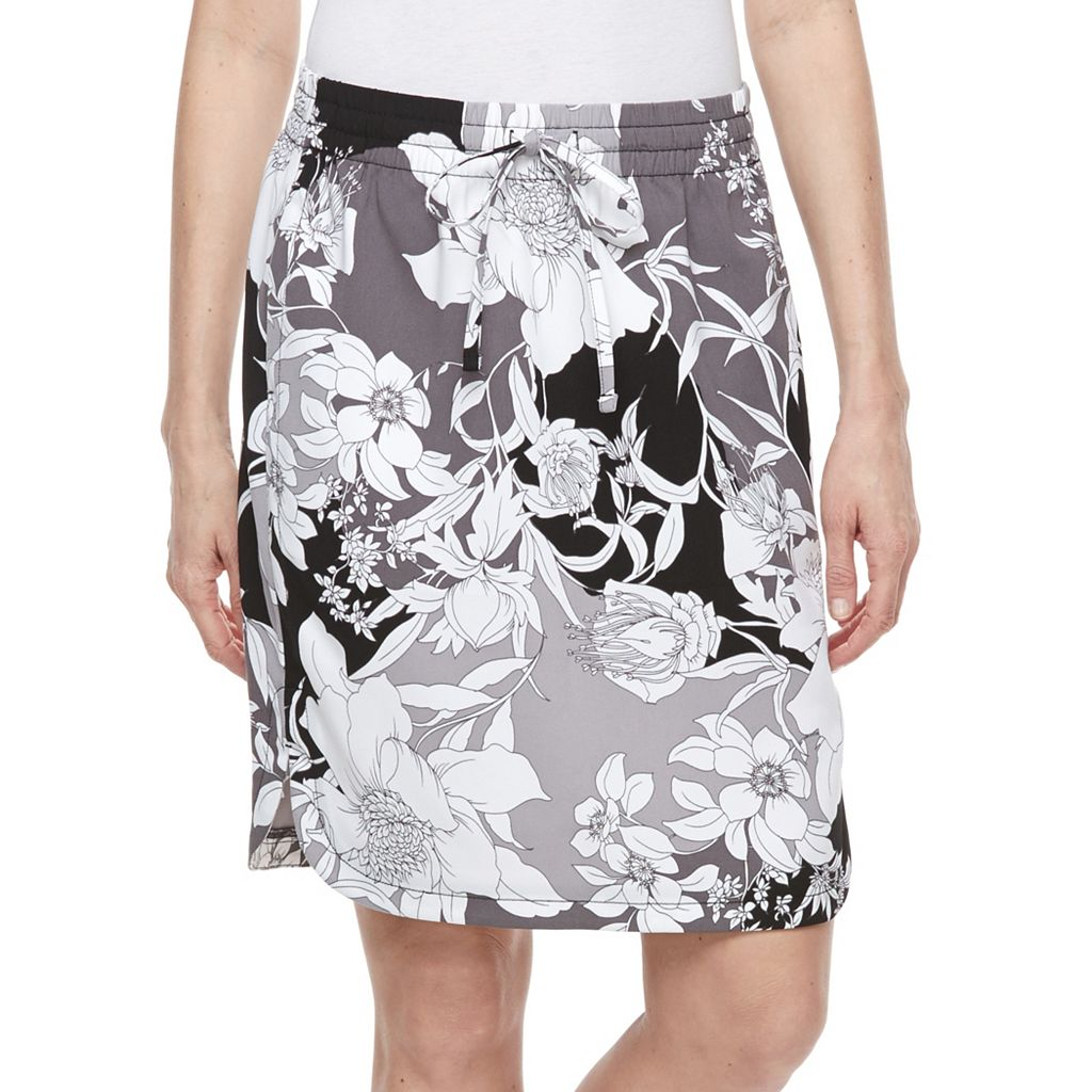Petite Croft & Barrow® Crepe Skirt