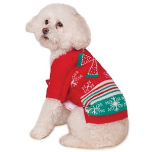 Pet Ugly Christmas Sweater with Bow Costume