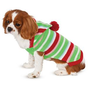 Pet Candy Striped Christmas Sweater Costume