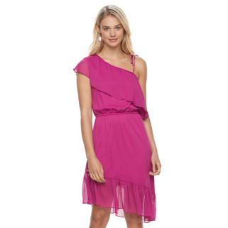 Juniors' Jolie Vie Asymmetrical One Shoulder Dress